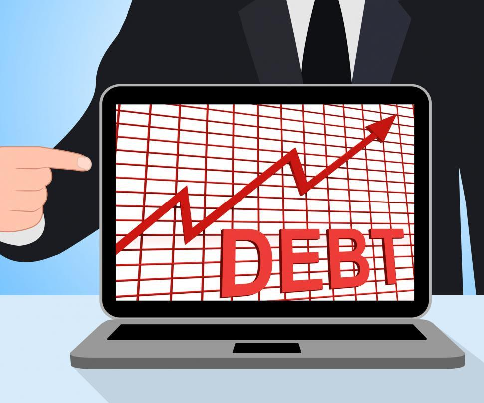 Download Free Stock HD Photo of Debt Graph Chart Displays Increasing Financial Indebted Online