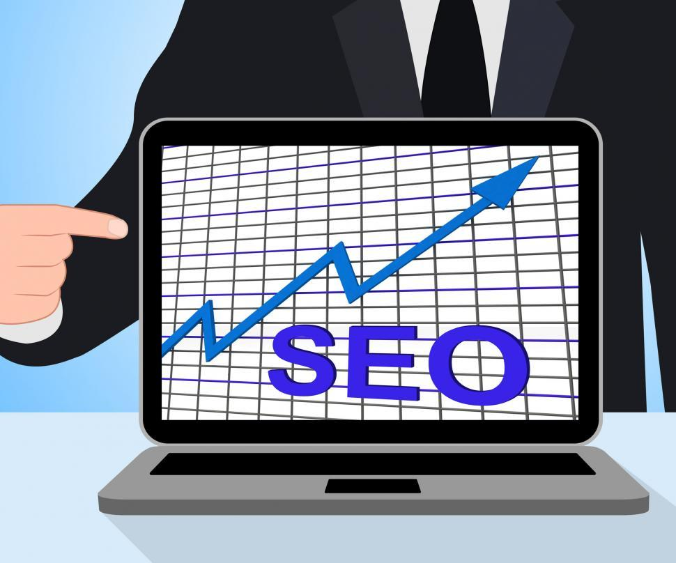Download Free Stock HD Photo of SEO Chart Graph Displays Increase Search Engine Optimization Online