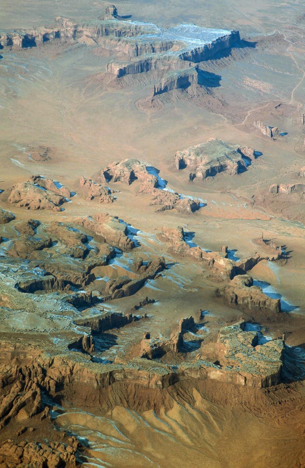 Download Free Stock Photo of Navajo Sandstone Aerial