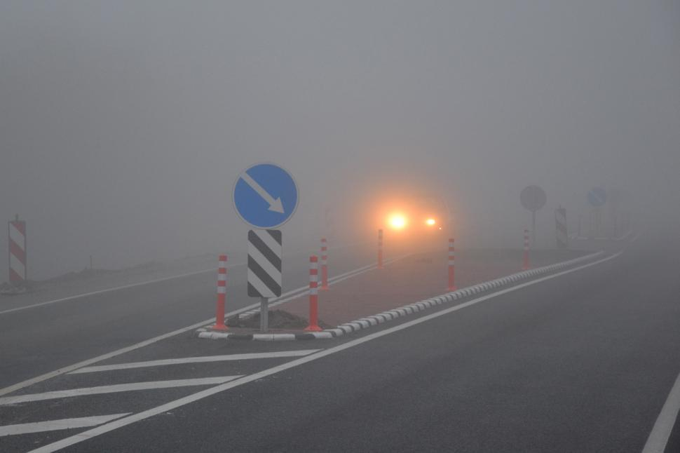 Download Free Stock Photo of Fog on the road