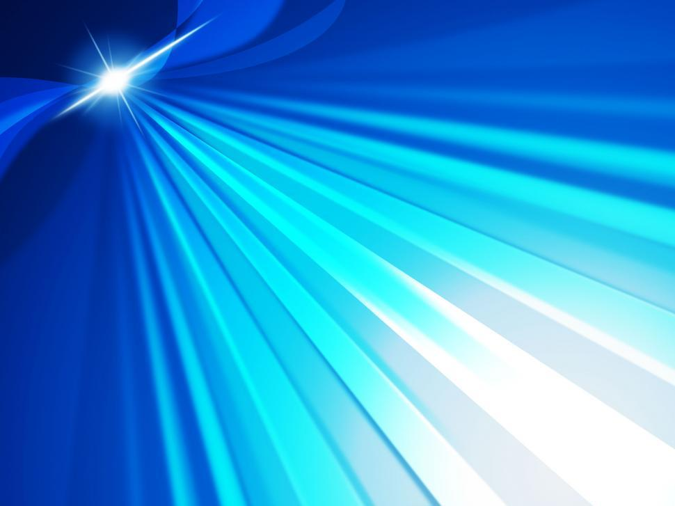 Download Free Stock HD Photo of Blue Glow Shows Light Burst And Bright Online