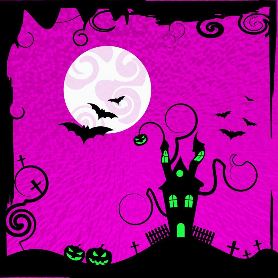 Download Free Stock HD Photo of Haunted House Shows Trick Or Treat And Autumn Online