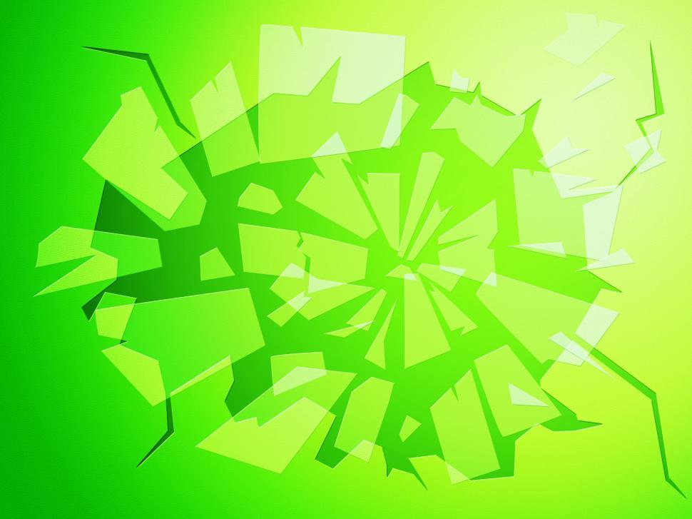 Download Free Stock Photo of Broken Glass Shows Empty Space And Blank
