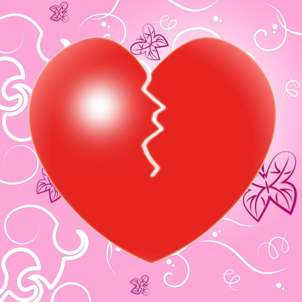 Download Free Stock HD Photo of Broken Heart Indicates Valentine Day And Breakup Online