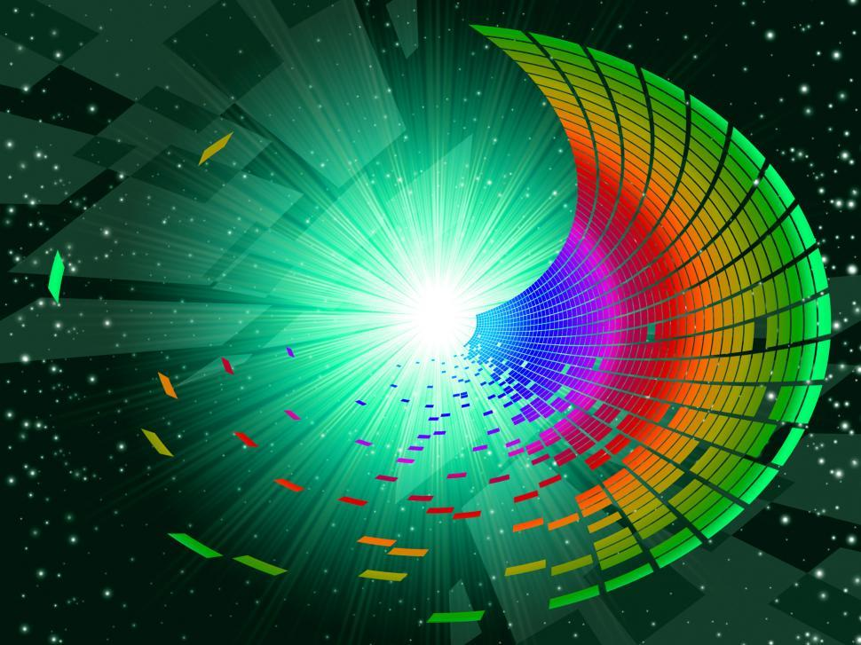 Download Free Stock Photo of Tunnel Colourful Shows Deep Space And Astronomy