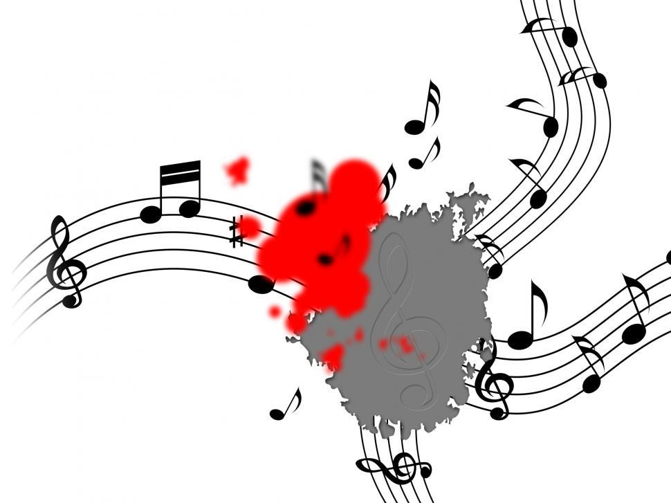 Download Free Stock Photo of Splat Music Shows Musical Note And Clef