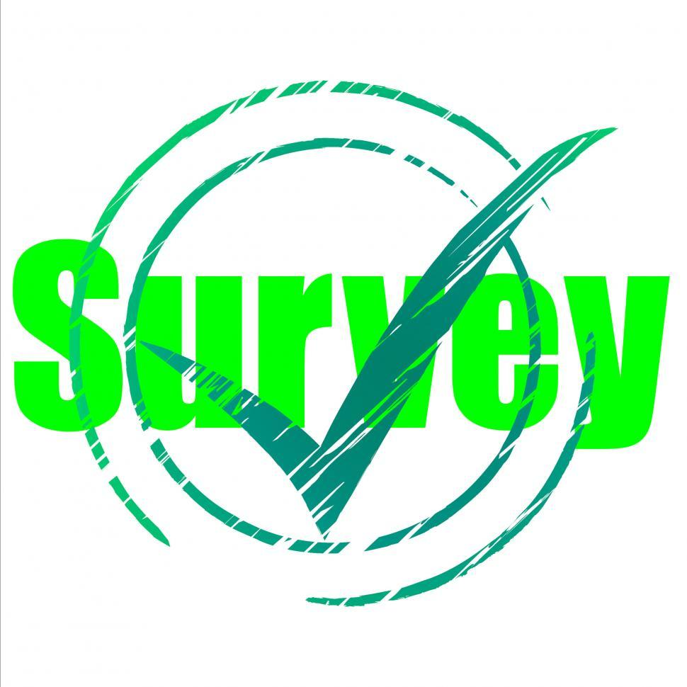 Download Free Stock Photo of Tick Survey Means Checkmark Confirmed And Correct