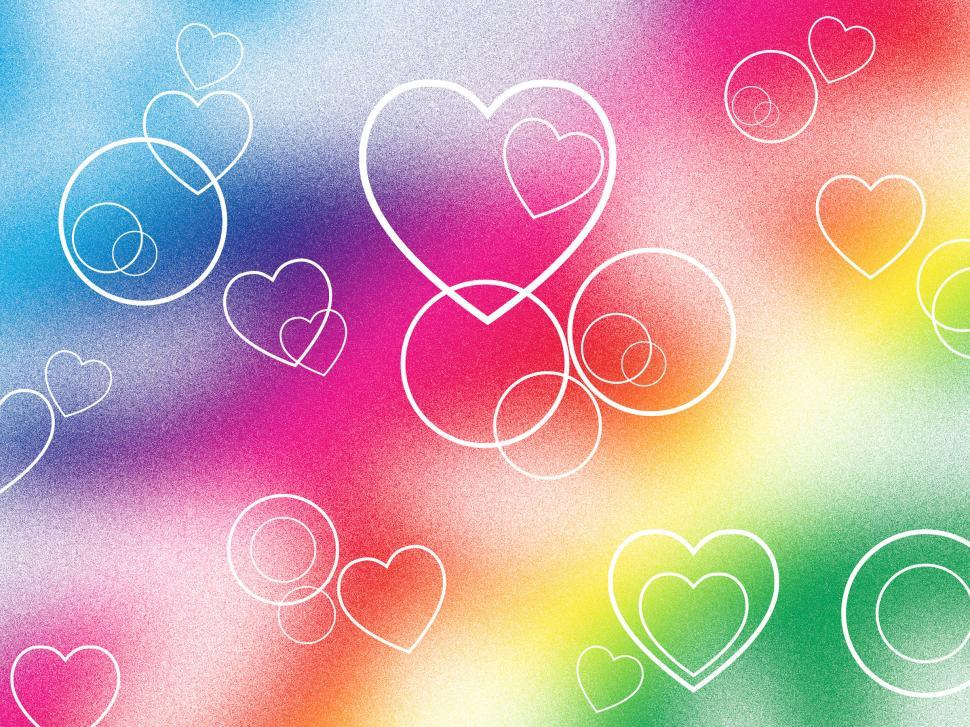 Download Free Stock HD Photo of Background Heart Means Valentines Day And Abstract Online
