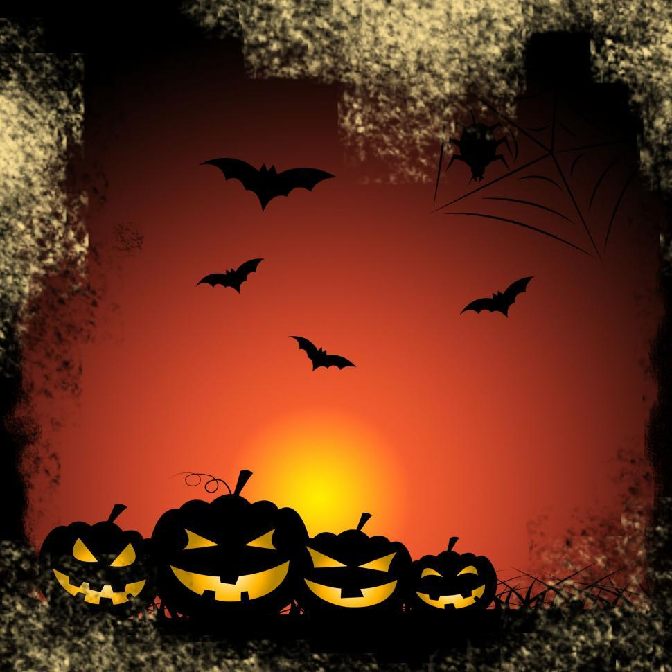 Download Free Stock Photo of Bats Pumpkin Shows Trick Or Treat And Celebration
