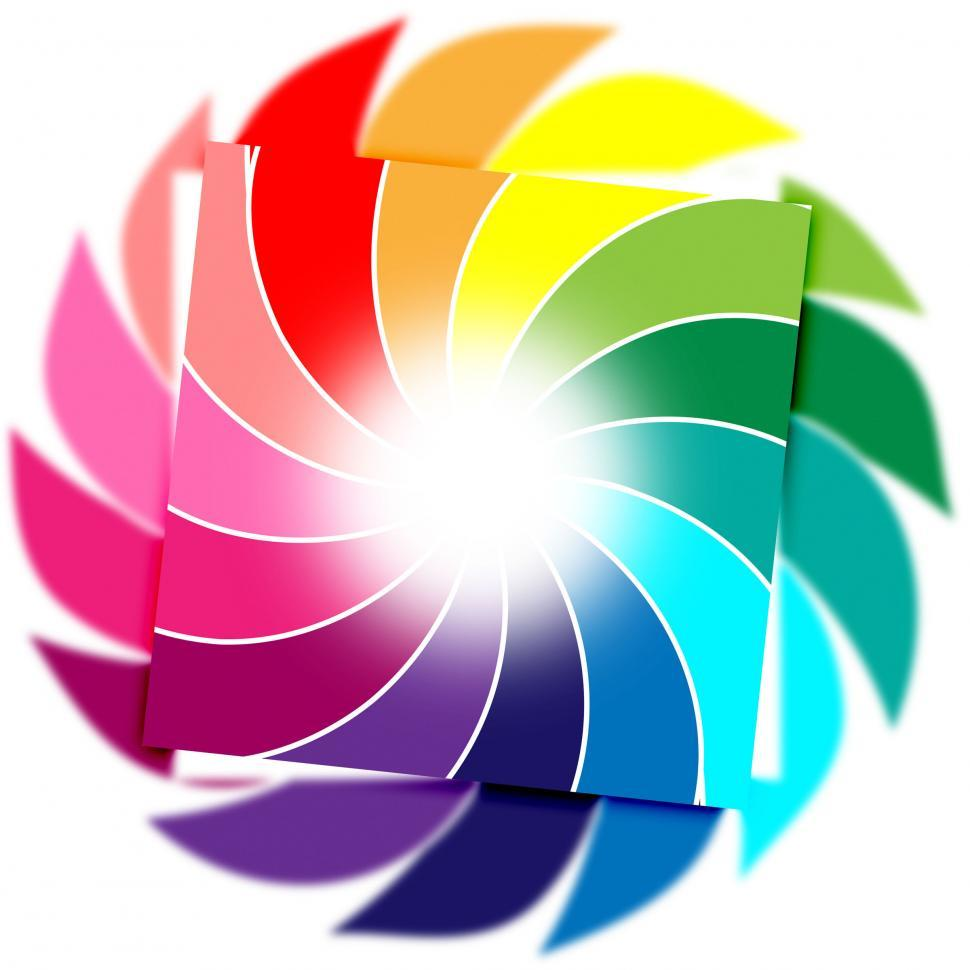 Download Free Stock Photo of Color Background Means Whirl Whirling And Colourful