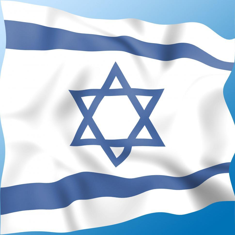 Download Free Stock Photo of Flag Israel Indicates Middle East And Destination