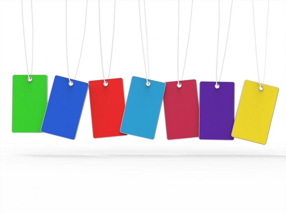 Download Free Stock HD Photo of Copyspace 7 Means Tag Colors And Blank Online