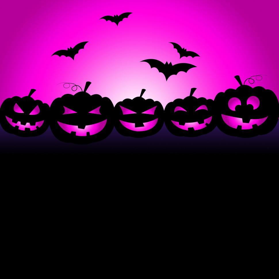 Download Free Stock Photo of Bats Halloween Means Trick Or Treat And Celebration