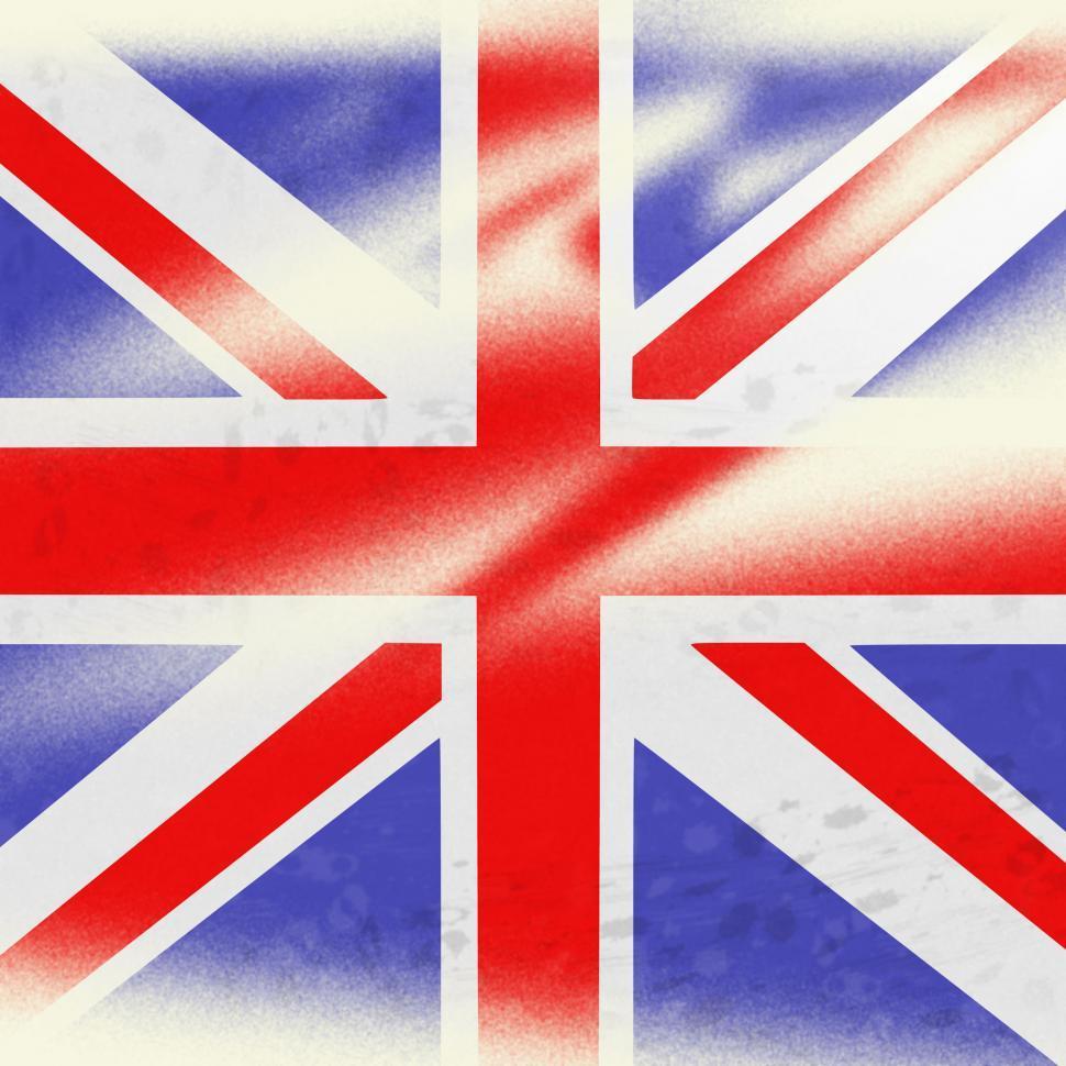 Download Free Stock Photo of Union Jack Indicates British Flag And Backdrop