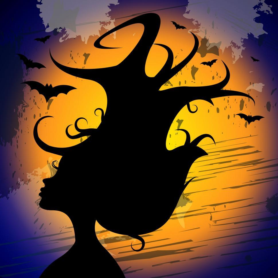 Download Free Stock Photo of Woman Halloween Shows Trick Or Treat And Adult