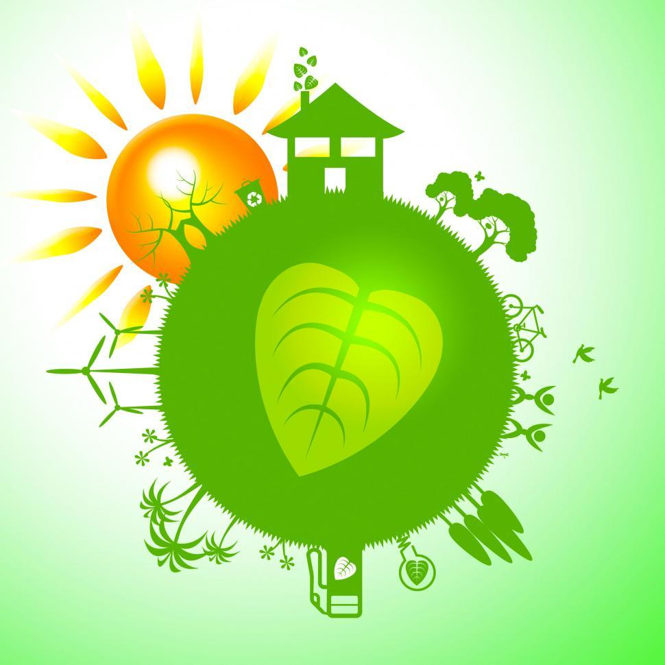 Download Free Stock HD Photo of Eco Sun Indicates Earth Friendly And Eco-Friendly Online