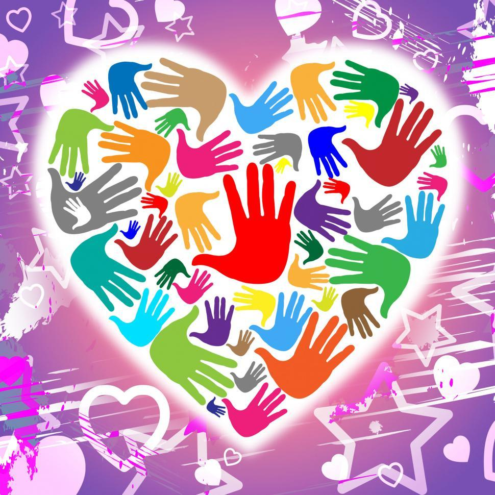 Download Free Stock Photo of Handprints Hands Represents Heart Shapes And Affection