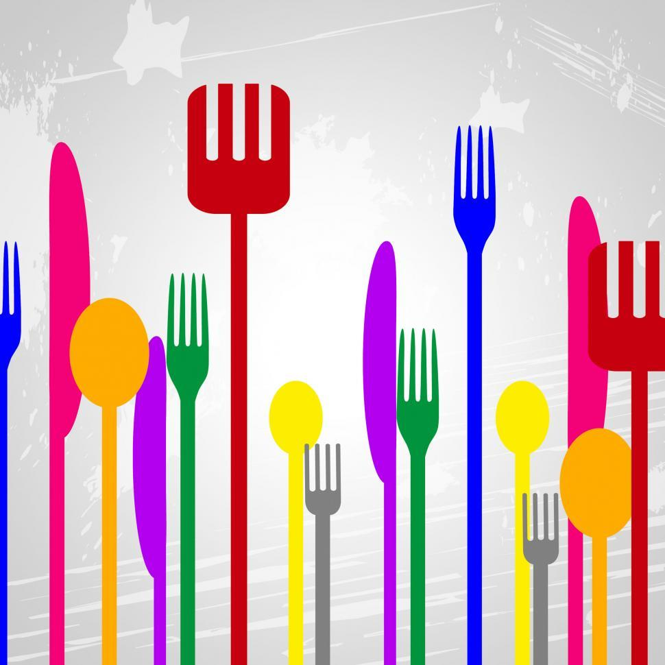 Download Free Stock Photo of Food Knives Represents Silverware Eat And Spoons