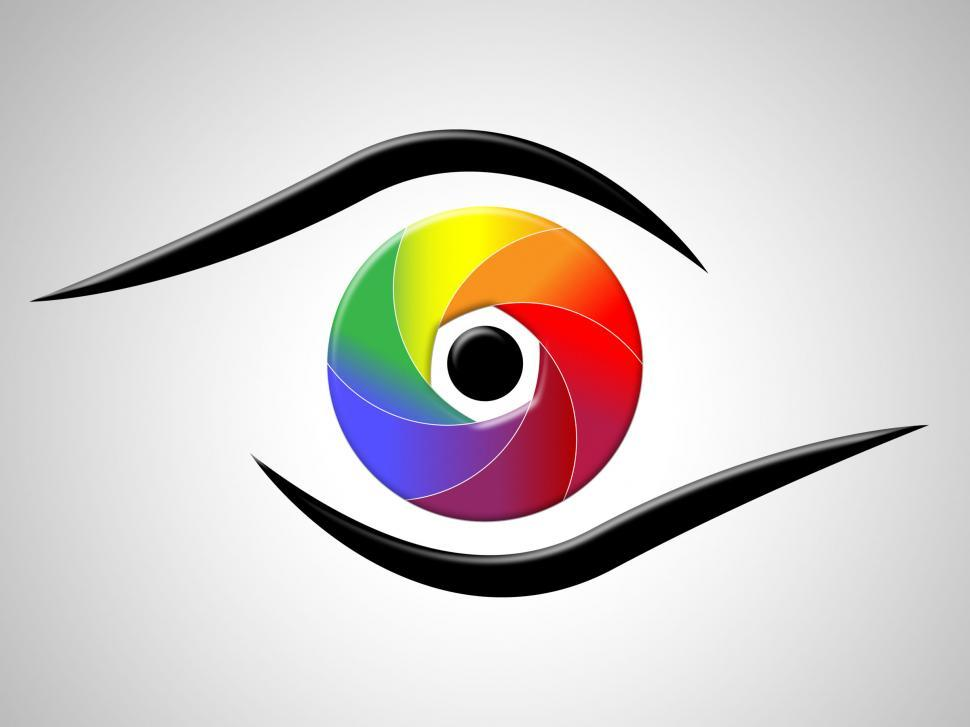 Download Free Stock HD Photo of Eye Aperture Shows Colour Splash And Chromatic Online