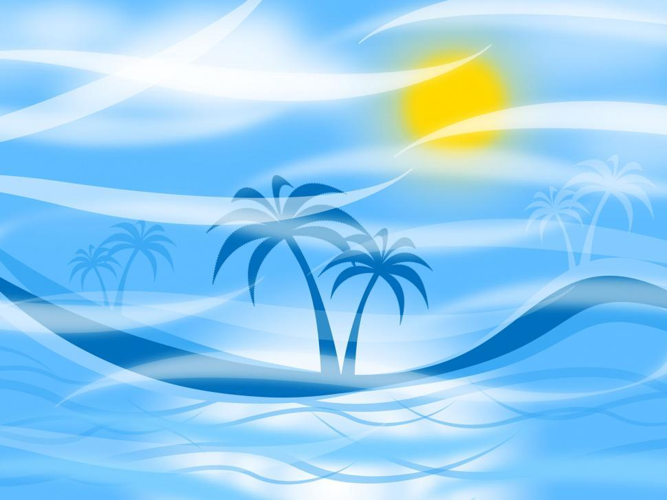 Download Free Stock Photo of Tropical Island Represents Palm Tree And Background