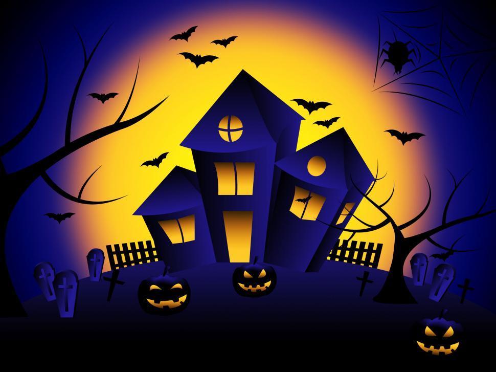Download Free Stock Photo of Haunted House Means Trick Or Treat And Autumn