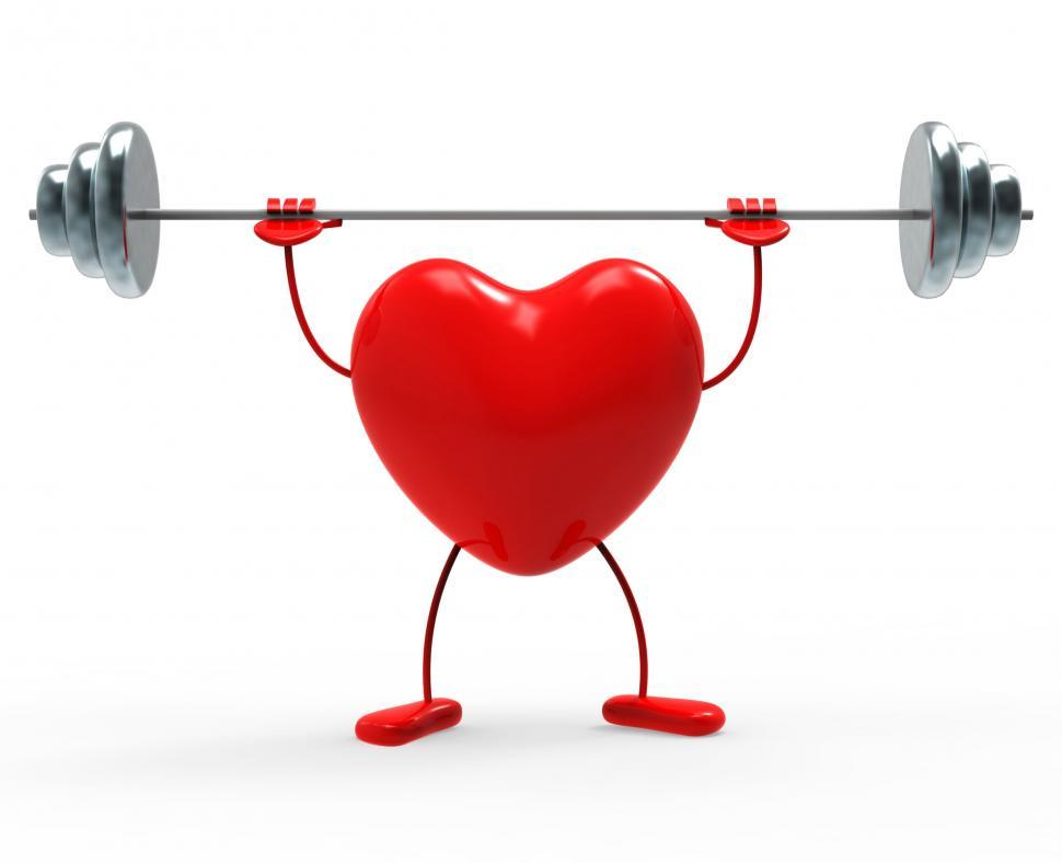 Download Free Stock HD Photo of Weights Fitness Indicates Heart Shapes And Exercise Online
