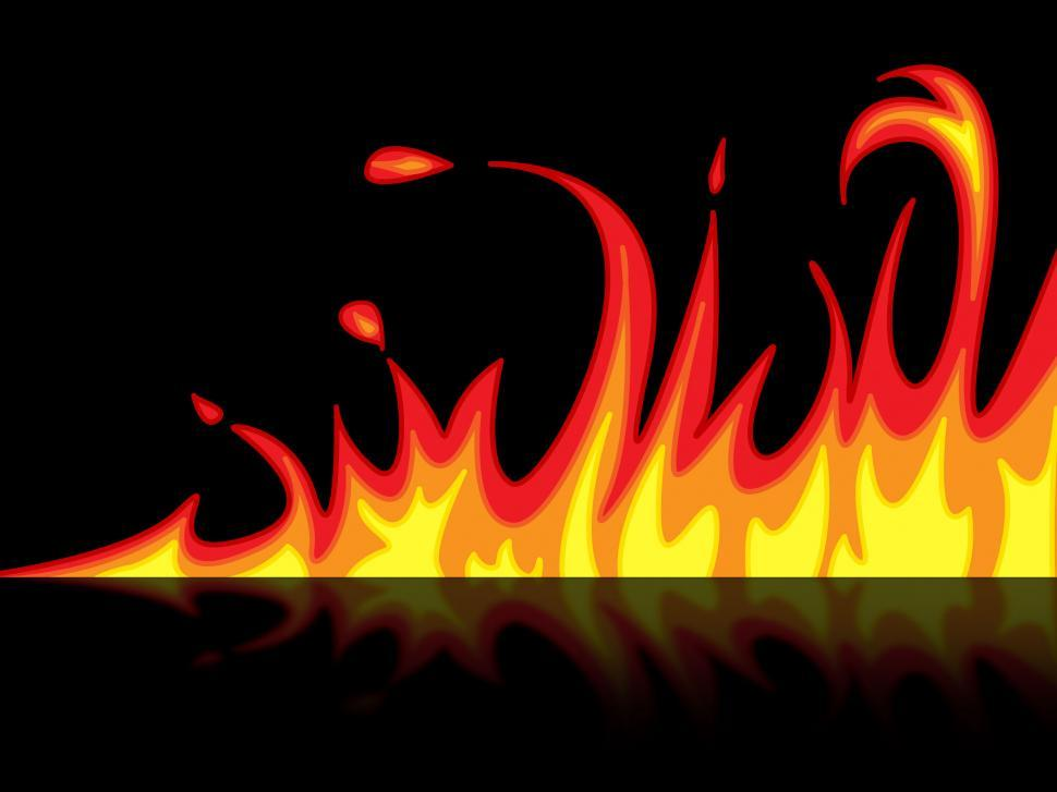 Download Free Stock Photo of Fire Reflection Represents Mirrored Blazing And Raging