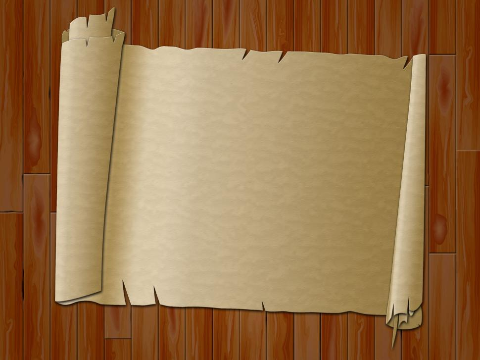 Download Free Stock Photo of Paper Scroll Indicates Antique Parchment And Bordering