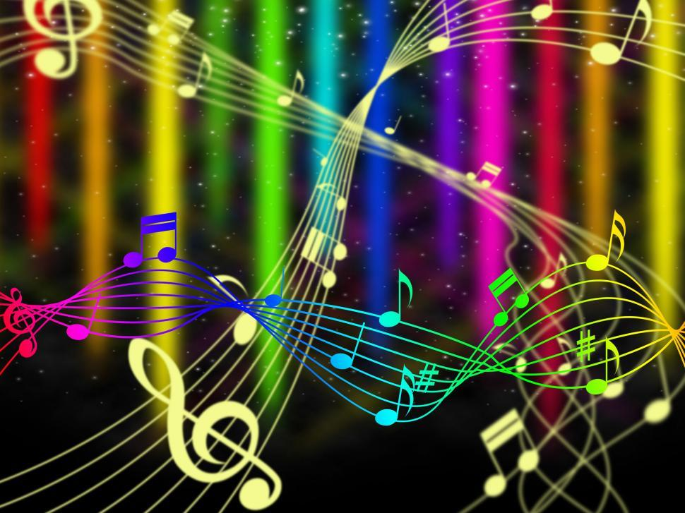 Download Free Stock HD Photo of Background Color Shows Music Note And Acoustic Online