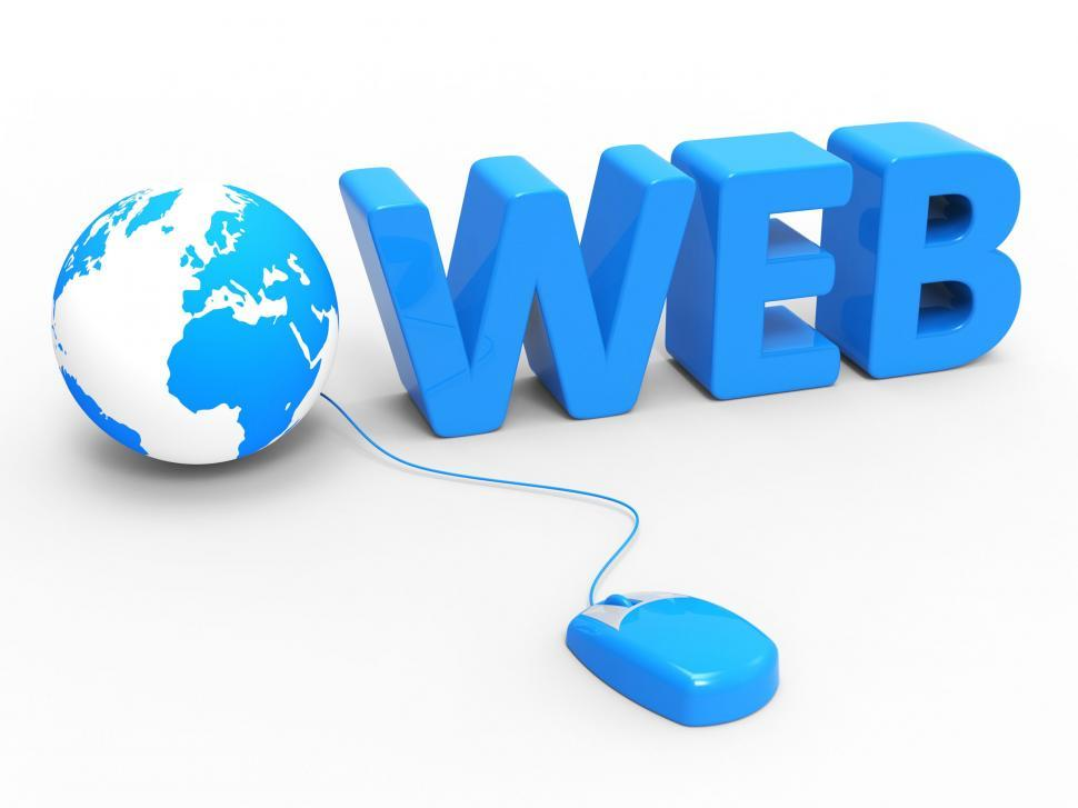 Download Free Stock HD Photo of Web Global Means Globally Internet And Worldwide Online