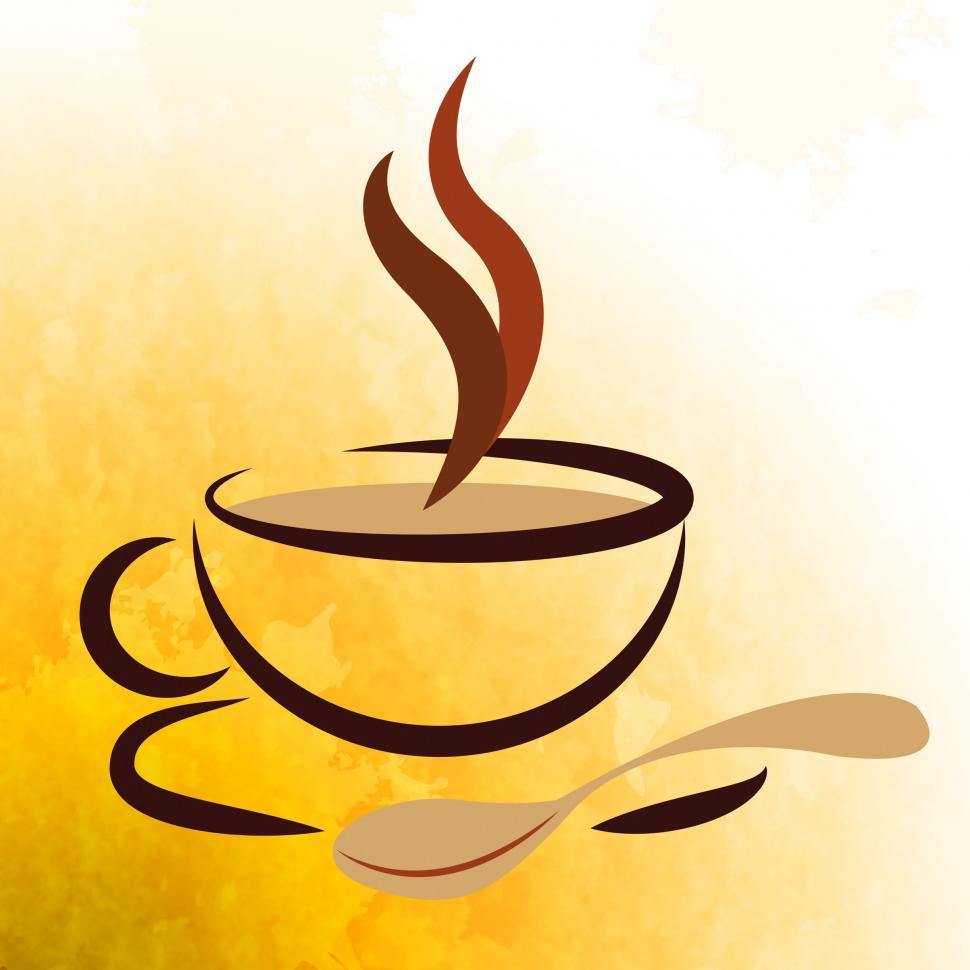 Download Free Stock Photo of Coffee Beverage Represents Caffeine Cafe And Cafeteria