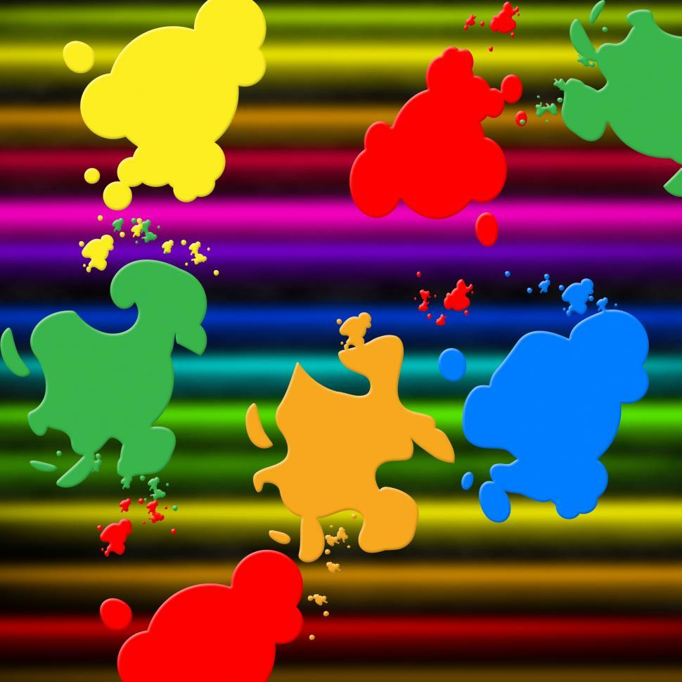 Download Free Stock Photo of Colors Paint Shows Splashed Background And Splashing