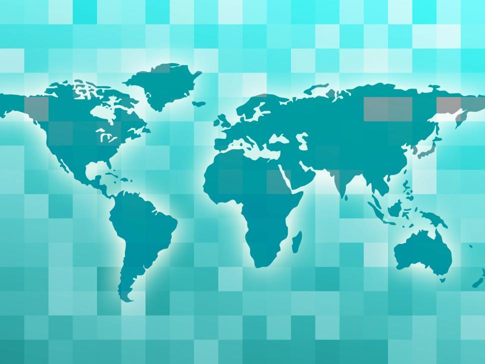 Download Free Stock Photo of World Map Means Countries Global And Globalization
