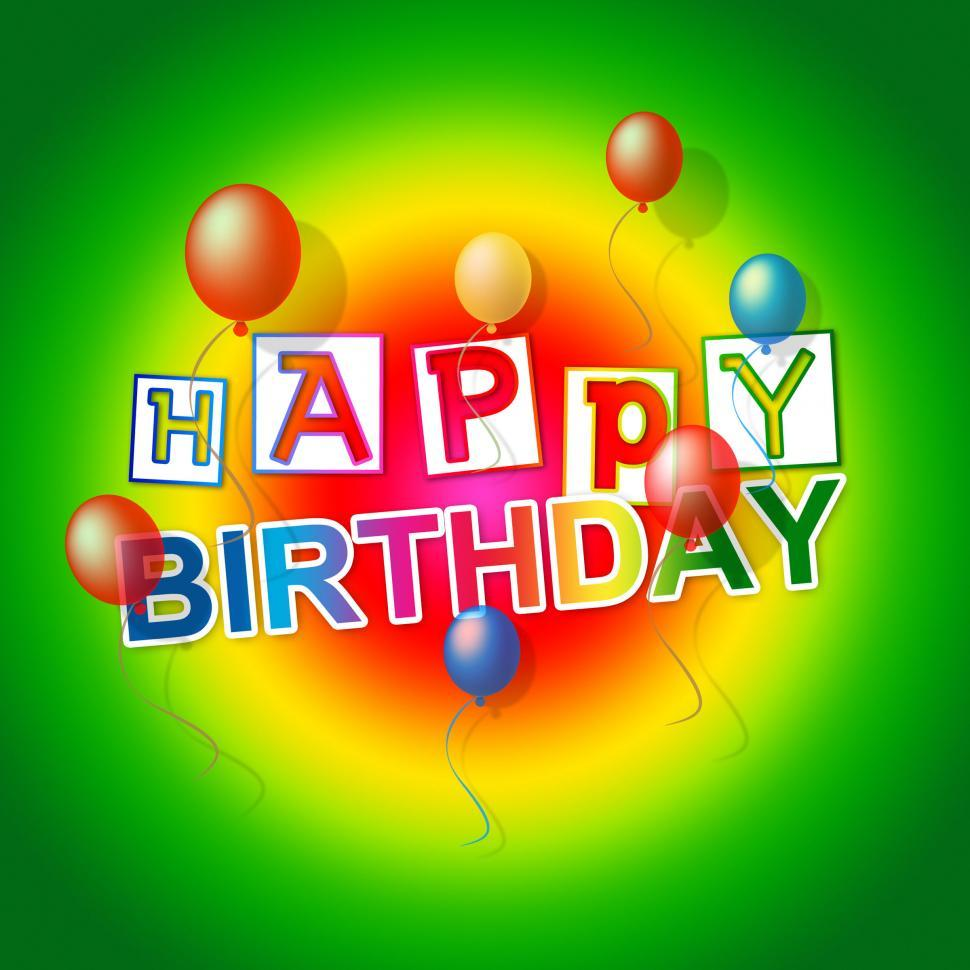 Download Free Stock HD Photo of Happy Birthday Shows Cheerful Party And Congratulating Online