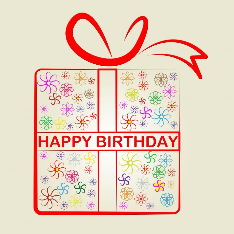 Download Free Stock Photo of Happy Birthday Represents Congratulation Present And Gift