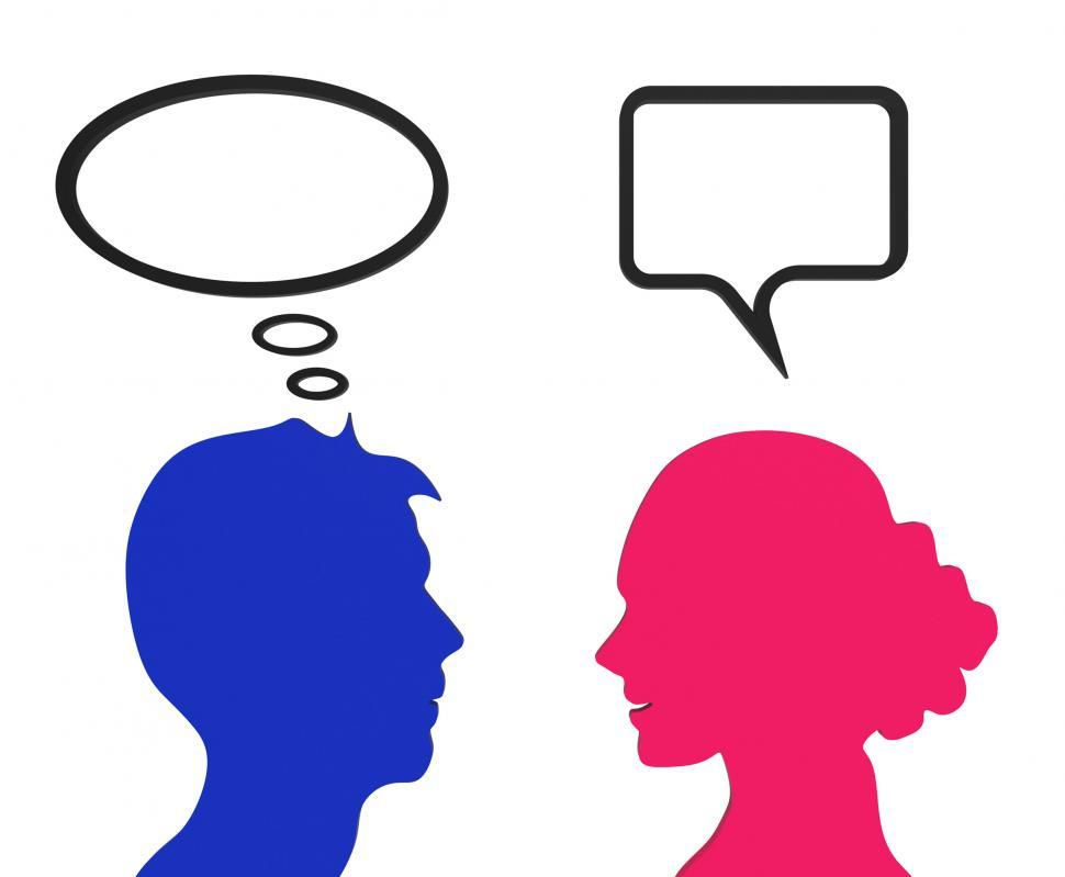 Download Free Stock Photo of Speech Bubble Represents Think About It And Chat