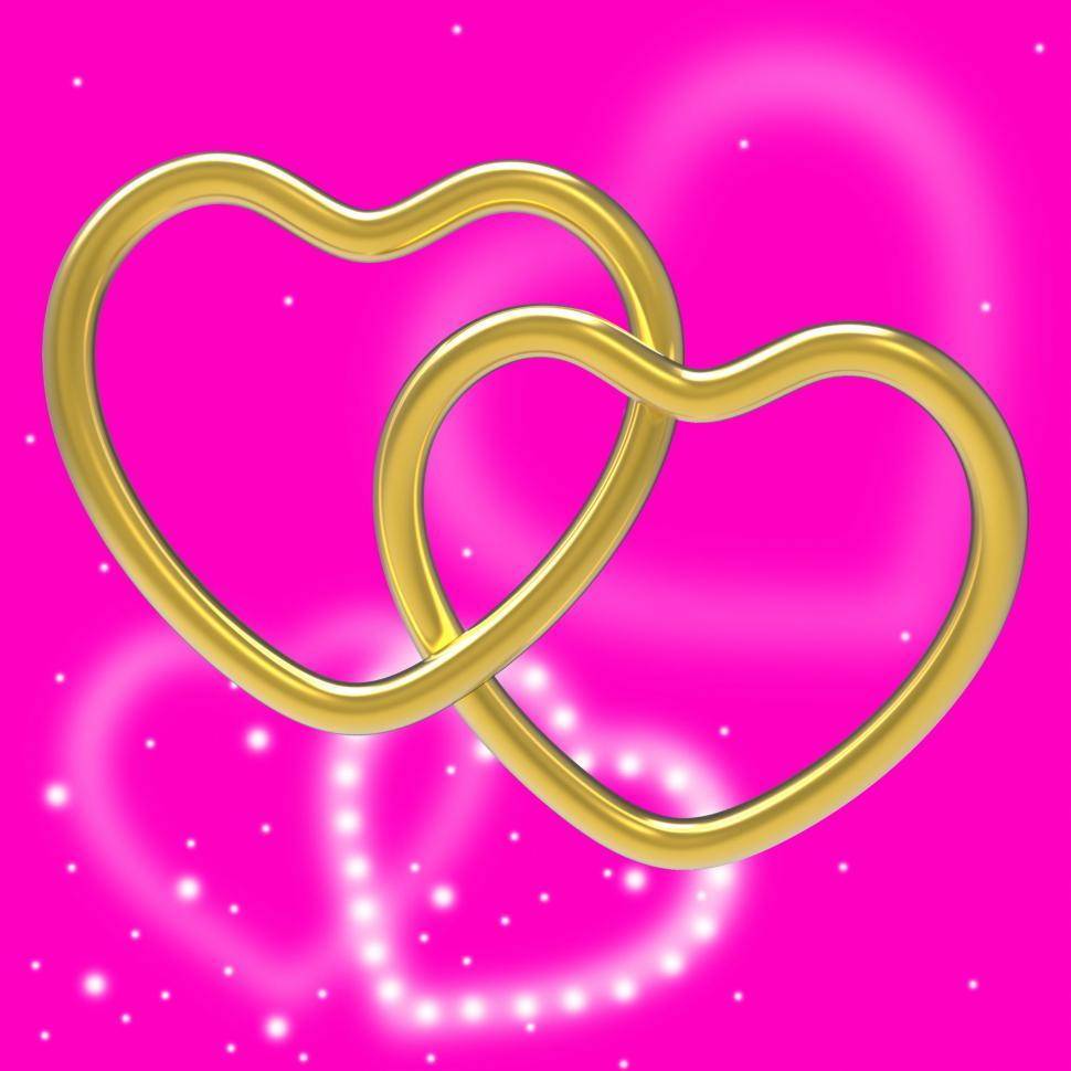 Download Free Stock HD Photo of Wedding Rings Means Valentines Day And Couple Online