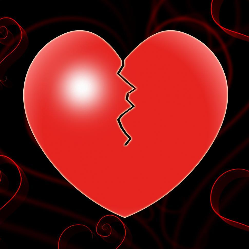 Download Free Stock HD Photo of Broken Heart Represents Valentines Day And Affection Online