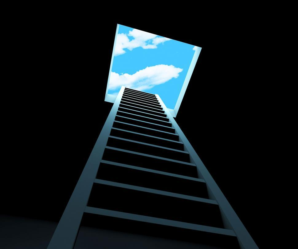 Download Free Stock Photo of Escape Ladder Means Being Free And Climbing
