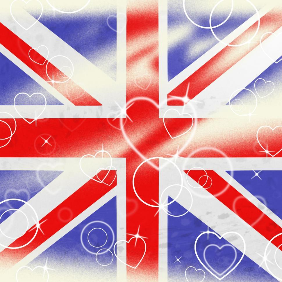 Download Free Stock Photo of Union Jack Means United Kingdom And Britain