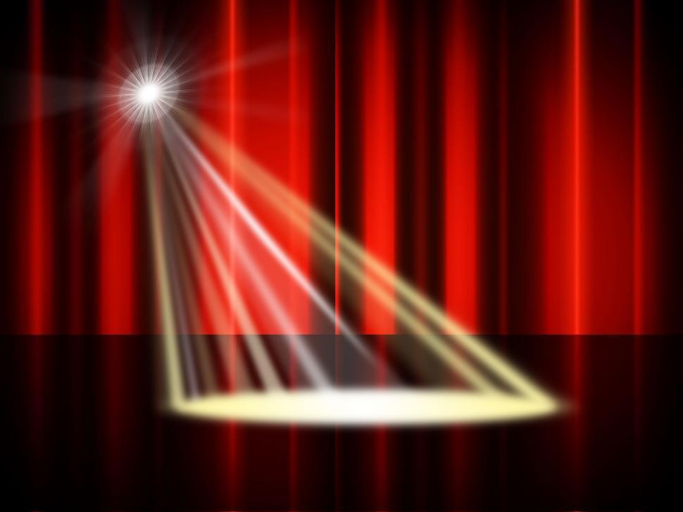 Download Free Stock HD Photo of Stage Spotlight Means Live Event And Broadway Online
