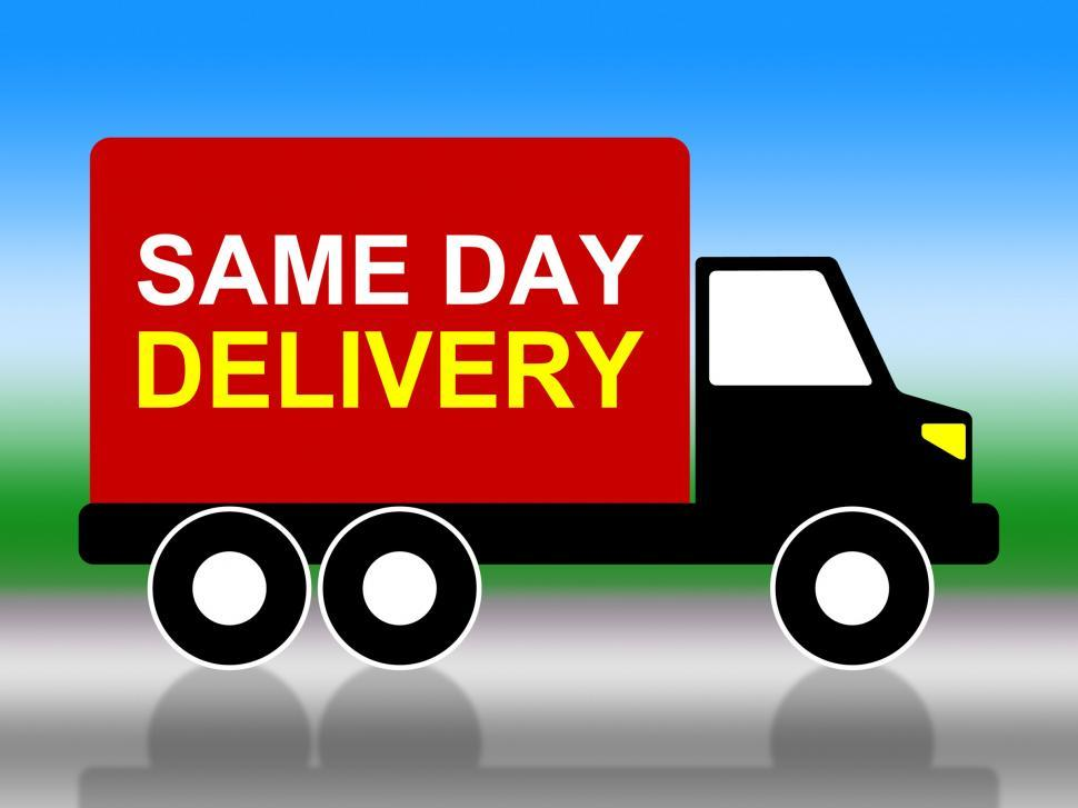 Download Free Stock Photo of Same Day Delivery Indicates Fast Shipping And Distributing