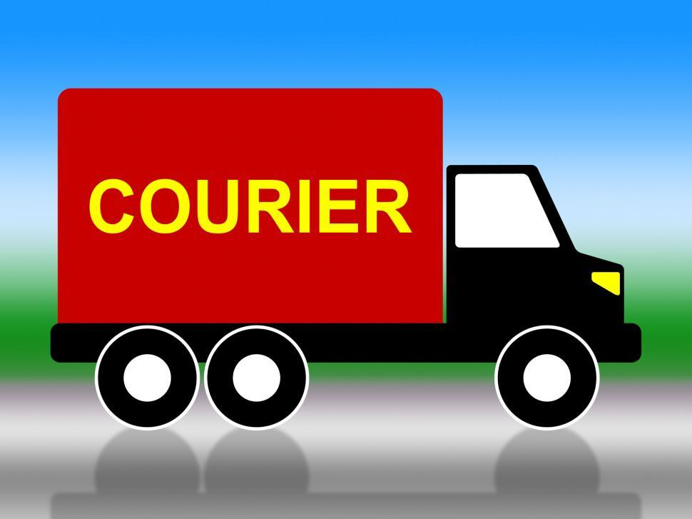 Download Free Stock HD Photo of Delivery Courier Indicates Trucking Postage And Vehicle Online