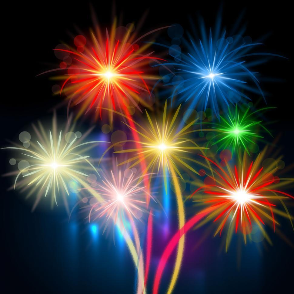 Download Free Stock HD Photo of Color Fireworks Represents Night Sky And Celebrations Online