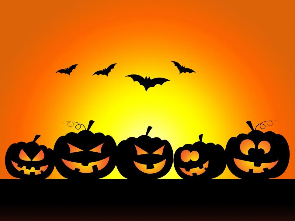 Download Free Stock Photo of Bats Halloween Indicates Trick Or Treat And Celebration