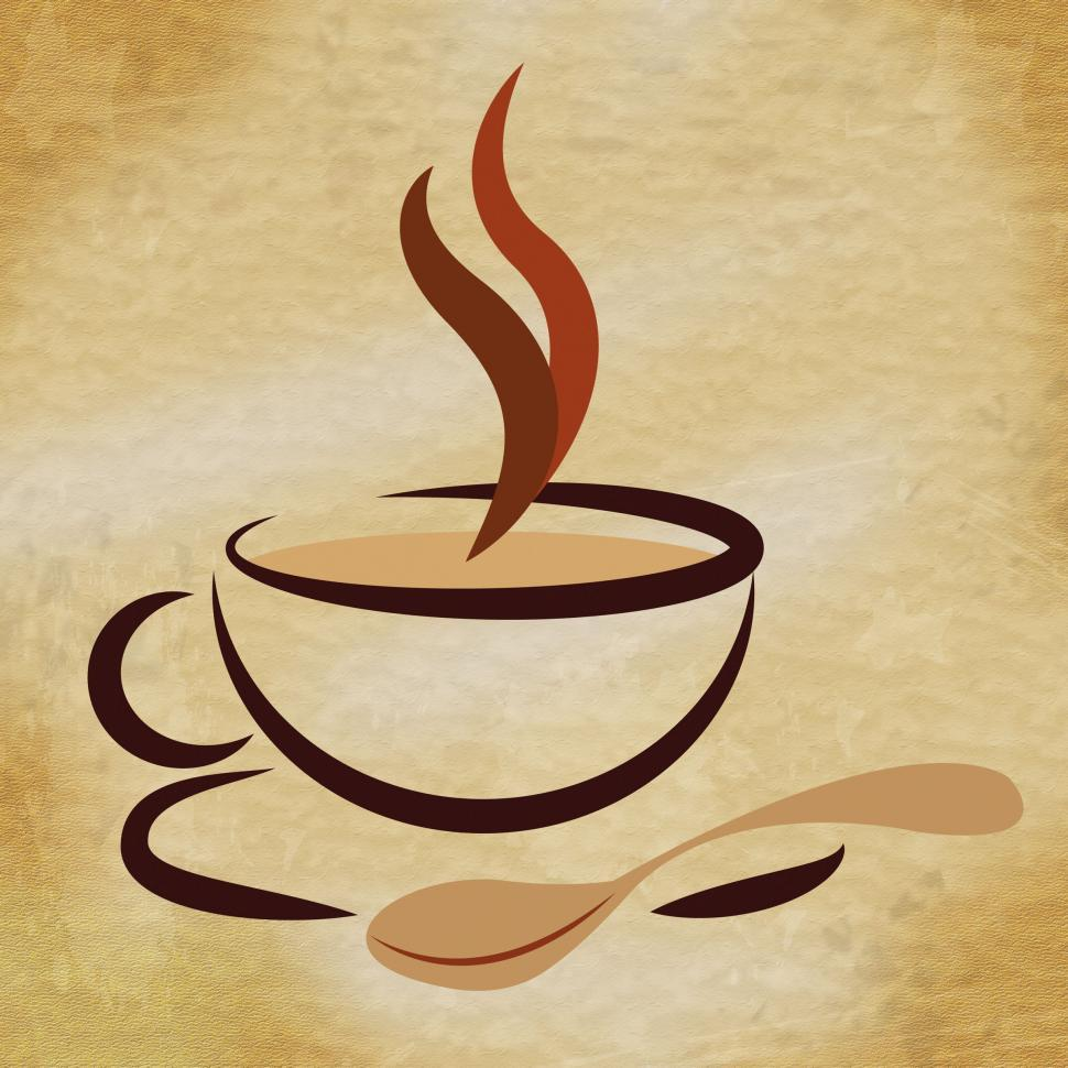 Download Free Stock Photo of Coffee Beverage Means Restaurant Cafeteria And Caffeine