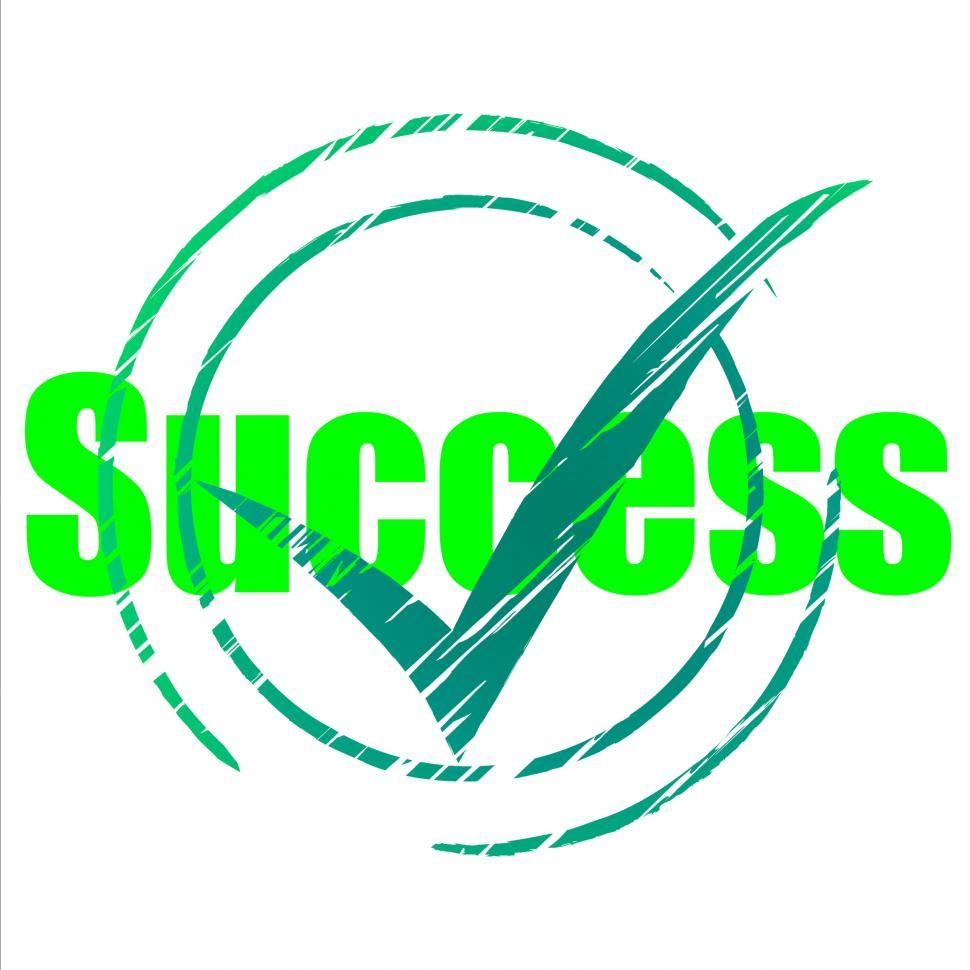 Download Free Stock Photo of Tick Success Shows Progress Checkmark And Correct