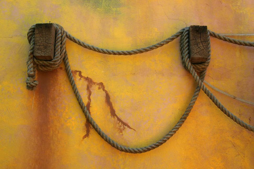 Download Free Stock Photo of beam rope yellow wrap hang