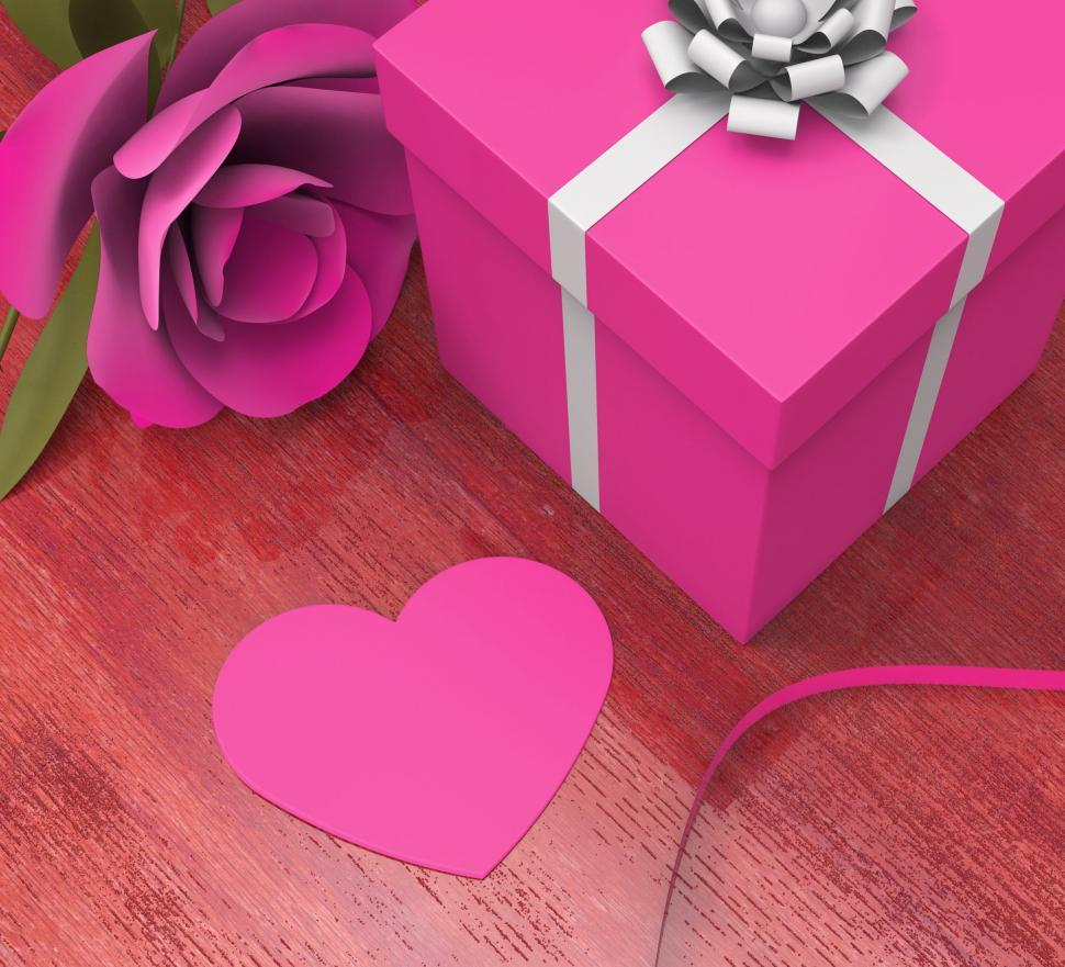 Download Free Stock HD Photo of Gift Card Indicates Valentines Day And Celebration Online