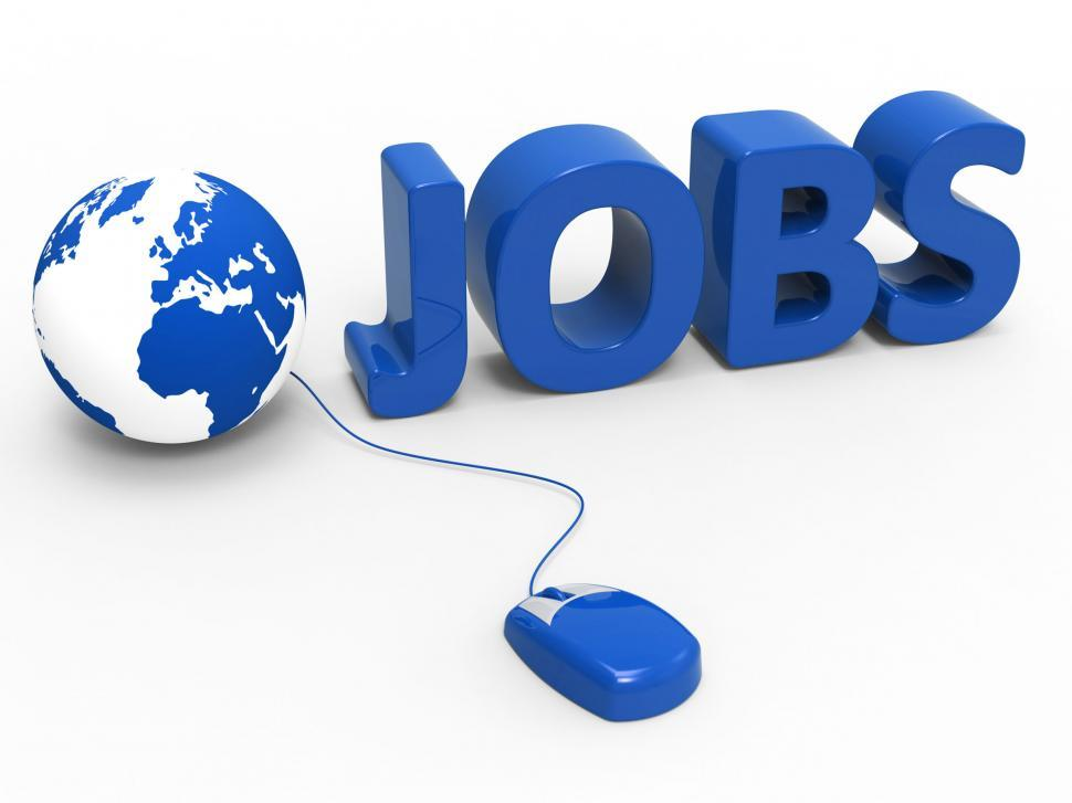 Download Free Stock HD Photo of Internet Jobs Indicates World Wide Web And Planet Online